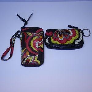 Vera Bradley wallet and change purse pair wristlet